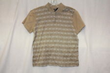 """CALLAWAY GOLF 60""""s Two-Ply Cotton Argyle Womens Golf Polo Size S-B115"""