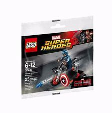 LEGO CAPTAIN AMERICA Super Heroes Marvel MINIFIGURE MOTORCYCLE 30447 NEW