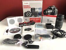 Canon EOS 600d 18.0 MP SLR-FOTOCAMERA DIGITALE NERO KIT CON 18/55 & 75-300mm