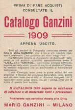 Z2883 Apparecchi fotografici GANZINI - Milano - Pubblicità d'epoca - 1909 old ad
