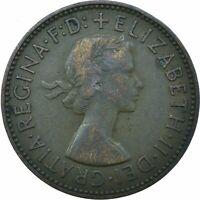 1955 HALF PENNY GB UK QUEEN ELIZABETH II. COLLECTIBLE COIN  #WT21681
