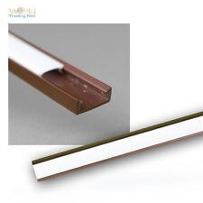 """1m LED Kunststoff-Profil """"MINI"""" braun mit Abdeckung OPAL Schiene für LED Stripes"""