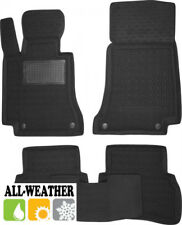 All Weather Floor Liner Velour Carmats Rubber Backing Fit Mercedes C W205 2014-