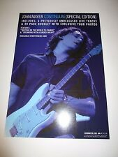 John Mayer Continiuum 2 Sided Poster 2007 Promotional 12X17 New