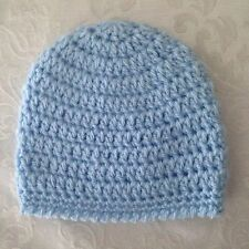 Hand Crocheted NEWBORN Baby Infant BEANIE CAP HAT Boys MADE IN THE USA