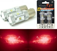 LED Light 30W 1156 Red Two Bulbs Stop Brake Rear Replacement Upgrade Lamp Fit OE