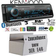 Kenwood Autoradio für BMW 3er E46 DAB+ Bluetooth/iPhone/Android/Spotify Set Auto