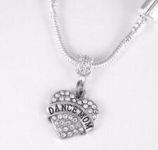 Dance Mom Necklace Dancing Mom Gift chain Dancer Mom Present Dance Pendent Mom