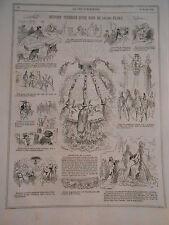 1866 PELE MELE Histoire Véridique d'une robe de 140.000 francs