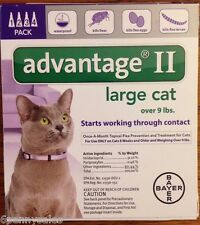 K9 Advantage II / 2 18 Flea Drop Medicine for Cats 4 Pack K-9 4 Month Supply NEW