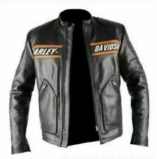WWE Goldberg Bill Classic Men's Harley Davidson Black Leather Motorcycle Jacket