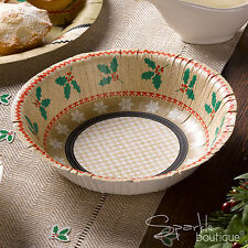 FESTIVE NOEL Luxury Nordic Style Christmas Paper BOWLS -Xmas Party-RANGE IN SHOP