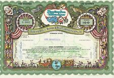 RINGLING BROS. BARNUM & BAILEY STOCK CERTIFICATE CIRCUS ISSUED GREEN VARIETY