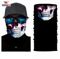 WOSAWE Motorcycle Bandana Balaclava 3D Face Shied Skull Mask Balaklava Hip Hop