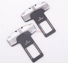 2x England Britain Gray Seat Belt Buckle Safety Alarm Clasp Stopper Eliminator