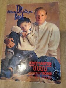 Knitmaster machine knitting pattern book. The men and boys pattern book