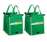 2/4/6X Reusable Shopping Bags Green Eco Foldable Handle Bag Grocery Cart Trolley