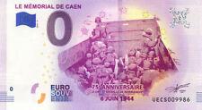 14 CAEN Mémorial 4, 75ème anniversaire, 2019, Billet 0 € Souvenir
