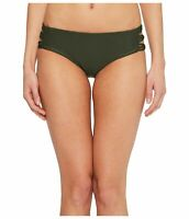 Mikoh Womens Swimwear Forest Green Size XS Strappy Knot Bikini Bottom $112 966
