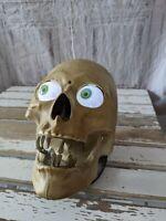 Gemmy skull animated light up Halloween barry bones prop skeleton