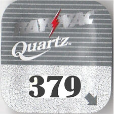 10 Rayovac 379 Watch Battery SR63 SR521 D379 SB-AC V379
