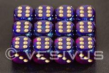 Dice Chessex Borealis Royal Purple Tranparent Clear D&D 12d6 d6 Block Rpg 27667