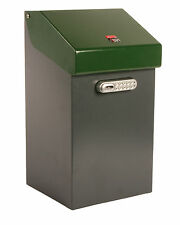 iBin Compact Parcel Delivery Box  /  iBin Postal Courier Box - Colour Grey-Green