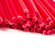 x50 190mm x 4.5mm Rouge Coloré Plastique Sucette Gâteau Pop Bâtons Artisanats