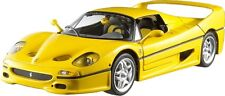 FERRARI F50 YELLOW by HOT WHEELS ELITE 1:18 BRAND NEW IN BOX WITH BOX SHELF WEAR