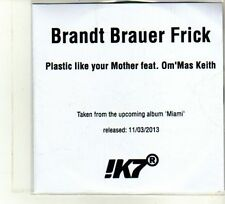 (DU364) Brandt Brauer Frick, Plastic Like Your Mother ft Om'Mas Keith - DJ CD