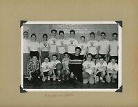 VINTAGE BOYS BASKETBALL TEAM SPORTS ROYAL AMBASSADORS OLD PHOTOGRAPH 1950S