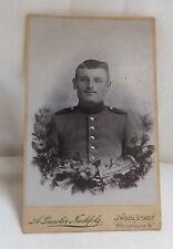 Militaria Cabinet Foto Portrait Soldat Uniform Militärzeit um 1900 Ingolstadt