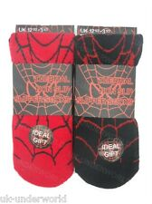 2 Pairs Childrens Boys Spiders Web Design Warm Thermal Slipper Gripper Bed Socks