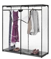 Clothes Closet Zipper Portable Shoe Storage Metal Organizer Garage Clothes  Room