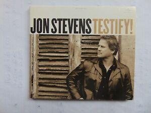 Jon Stevens - Testify! - CD - FREE POST