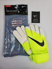 Nike GK Classic Soccer Goalkeeper Gloves, Size 11 Swoosh Football Neon Yellow