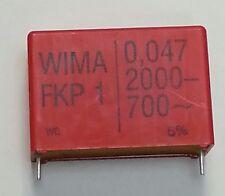 10 pcs.  WIMA  Folienkondensator FKP1  0,047uF  2000VDC/700VAC  5%  RM37,5mm
