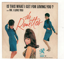 Pop/Rock/Girl Group-Ronettes-Is This What I Get For Loving You?/Oh, I Love You