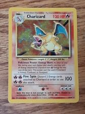 1999 Pokemon Charizard Base Set Unlimited Rare Holographic Card 4/102 Holo WOTC