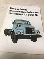 Volvo camion pois lourds série N catalogue prospectus brochure dépliant