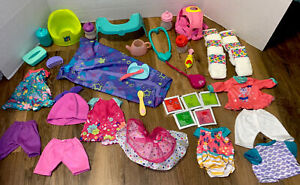 Baby Alive Doll Clothes Accessories Lot Magnetic Spoon Potty Clothes Bottles