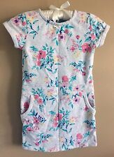 Girl's Floral Dress Heather Gray Floral by Carter's Size 6 Short Sleeve w Pocket