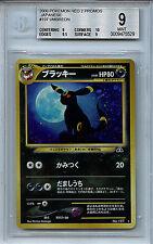 Umbreon Japanese Pokemon BGS 9.0 (9) Mint Neo 2 Card # 197 Holo 5529