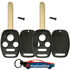 2 Remote Key Fob Shell Pad Case for 2003 2004 2005 2006 2007 Honda Accord