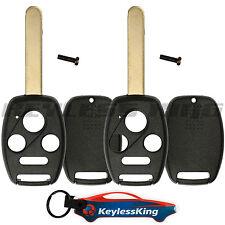 2 Remote Key Fob Shell Pad Case for 2003 2004 2005 2006 2007 Honda Accord