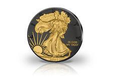 American Eagle 1 Onza Moneda de Plata 2020 Ee.uu. Con Rutenio Y Oro