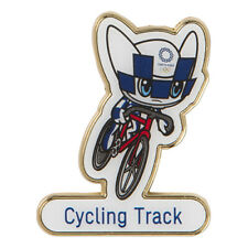 Tokyo 2020 Olympic Games official mascot pin badge Cycling Track Olympics Japan