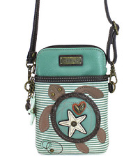 CHALA SEA TURTLE GREEN CELL PHONE CROSSBODY PURSE POUCH ADJUSTABLE STRAP NWT
