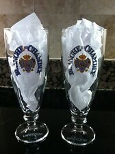 UNIBROUE BREWERY BLANCHE DE CHAMBLY NEW  PAIR OF 13 OZ. BEER STEMWARE