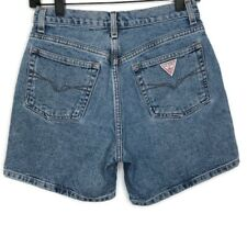 Vintage GUESS Georges Marciano Women's Jean Shorts Triangle Logo 27